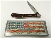 WR CASE CO. BROWN UTILITY KNIFE, #00135